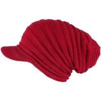 Accessoires textile Bonnets Nyls Création Bonnet Casquette Rasta Rouge Kift Rouge