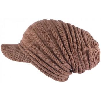 Accessoires textile Bonnets Nyls Création Bonnet Casquette Rasta Marron Kift Marron