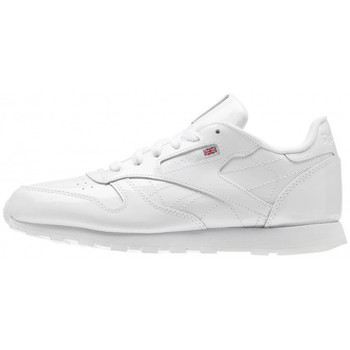 Chaussures Garçon Baskets basses Reebok Sport Classic Leather Patent Junior - Ref. CN2063 Blanc