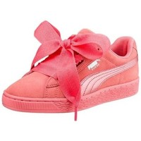 Chaussures Enfant Baskets basses Puma Suede Heart Snk JR Rose