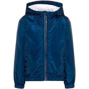 Vêtements Garçon Blousons Name It Kids NMMMIX SOLID JACKET CAMP Blue