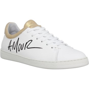 Chaussures Femme Baskets basses Schmoove Sally Love cuir Femme Blanc Or Blanc Or