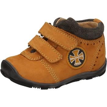Chaussures Garçon Baskets montantes Balducci sneakers jaune cuir suédé AD589 jaune