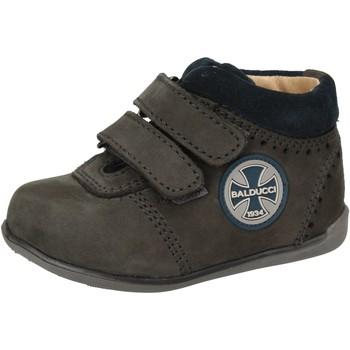 Chaussures Garçon Baskets montantes Balducci sneakers bleu cuir suédé AD590 bleu