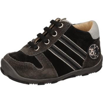 Chaussures Garçon Baskets montantes Balducci chaussures garçon  sneakers noir daim AD596 noir