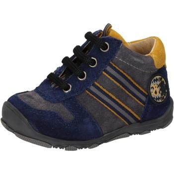 Chaussures Garçon Baskets montantes Balducci sneakers bleu daim gris AD597 bleu