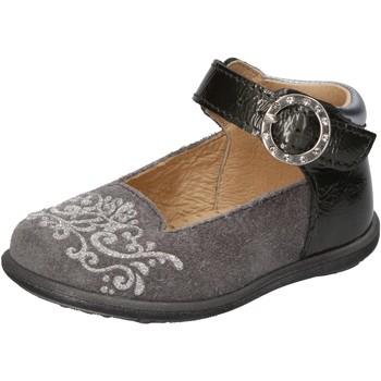 Chaussures Fille Ballerines / babies Balducci chaussures fille  ballerines gris daim cuir verni AD599 gris