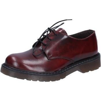 Chaussures Homme Chaussures de travail Olga Rubini élégantes bordeaux cuir brillant AD720 rouge