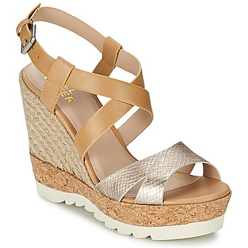 Chaussures Femme Sandales et Nu-pieds Bullboxer GLADOU Marron / Argent