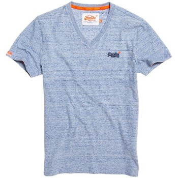 Vêtements Homme T-shirts manches courtes Superdry Orange Label Vintage Emb Vee Tee Bleu
