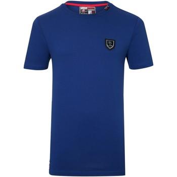 Vêtements Homme T-shirts manches courtes Philipp Plein Sport Tee Shirt Coton Uni Football  - les BLEUS