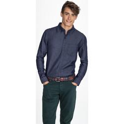 Vêtements Homme Chemises manches longues Sols BARRY MEN DENIM Azul