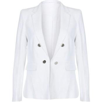 Vêtements Femme Vestes / Blazers Anastasia Blazer d'été en lin White