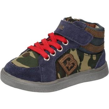 Chaussures Garçon Baskets montantes Blaike chaussures garçon  sneakers bleu daim vert cuir AD769 multicolor