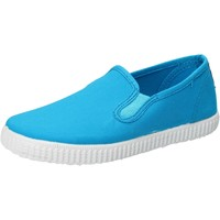 Chaussures Garçon Slip ons Cienta slip on celeste turchese textile profumate AD780 bleu