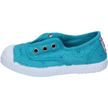 Chaussures Fille Baskets basses Cienta chaussures fille  sneakers vert acqua textile profumate AD784 vert