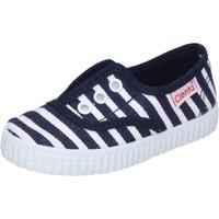 Chaussures Garçon Baskets basses Cienta sneakers bleu textile profumate AD823 bleu