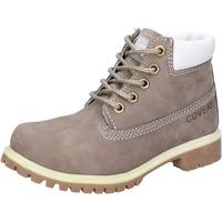 Chaussures Garçon Boots Enrico Coveri chaussures garçon  bottines gris cuir scamosciata AD831 gris