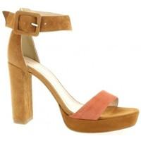 Chaussures Femme Sandales et Nu-pieds Fremilu Nu pieds cuir velours Cognac