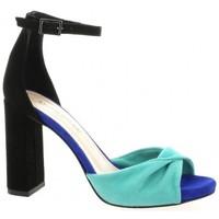 Chaussures Femme Sandales et Nu-pieds Fremilu Nu pieds cuir velours Bleu