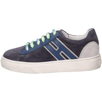 Chaussures Enfant Baskets basses Hogan HXC3400K390HB90QBV Basket Bébé Bleu Bleu