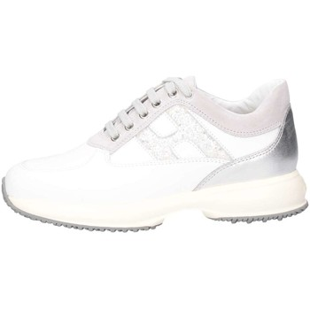Chaussures Fille Baskets basses Hogan HXR00N0O241IBK0CD1 Blanc / paillettes