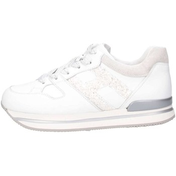 Chaussures Fille Baskets basses Hogan HXR2220T548ICB048K Blanc / paillettes