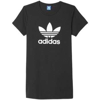 Vêtements Femme T-shirts manches courtes adidas Originals Originals Trefoil Dress T-Shirt Femme Noir Noir