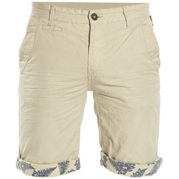 Vêtements Garçon Shorts / Bermudas Deeluxe Short à revers fantaisie Flickson beige