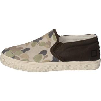 Chaussures Garçon Slip ons Date D.A.T.E. slip on vert textile beige AD846 vert