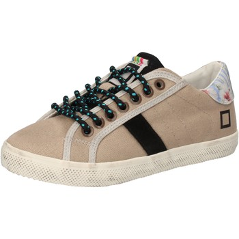 Chaussures Fille Baskets basses Date sneakers beige textile AD855 beige