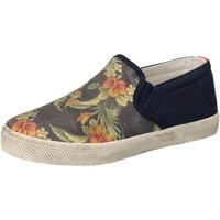 Chaussures Fille Slip ons Date D.A.T.E. sneakers bleu textile AD858 bleu