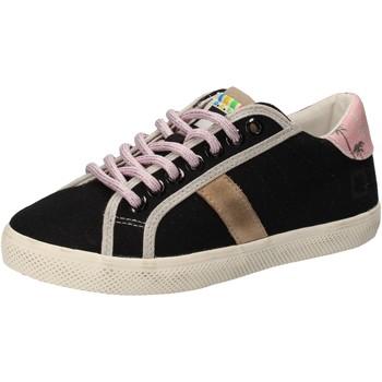 Chaussures Fille Baskets basses Date D.A.T.E. sneakers noir textile AD859 noir