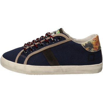 Chaussures Fille Baskets basses Date sneakers bleu textile AD862 bleu