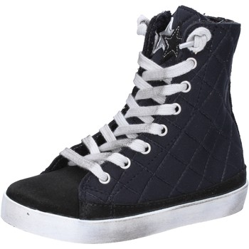 Chaussures Fille Baskets mode 2 Stars chaussures fille  sneakers noir textile daim AD887 noir