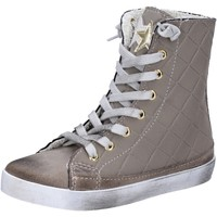 Chaussures Fille Baskets montantes 2 Stars sneakers beige textile daim AD888 beige