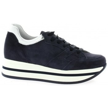 Chaussures Femme Baskets mode Pao Baskets cuir velours Marine
