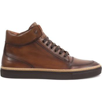 Chaussures Homme Baskets montantes Heyraud Basket DOORS Marron