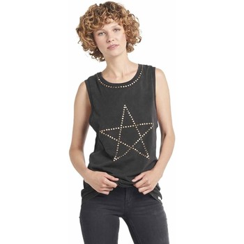 Vêtements Femme T-shirts manches courtes Dear Tee Camiseta Mujer Rock Star Negro Noir