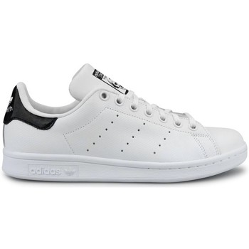 Chaussures Garçon Baskets basses adidas Originals Stan Smith J Blanc Noir Blanc/Noir