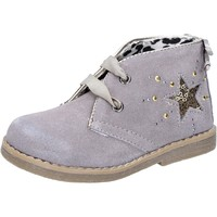 Chaussures Fille Bottines Didiblu DIDI bleu bottines beige daim AD978 beige