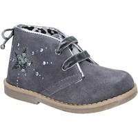 Chaussures Fille Bottines Didiblu DIDI bleu bottines gris daim AD979 gris
