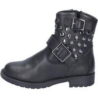 Chaussures Fille Bottines Didiblu bottines noir cuir clous AD981 noir