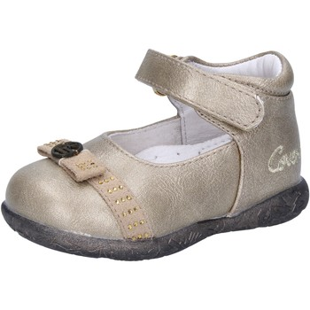 Chaussures Fille Ballerines / babies Enrico Coveri Junior chaussures fille  ballerines or cuir daim AD959 or