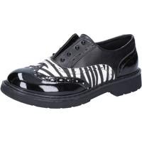 Chaussures Fille Baskets basses Enrico Coveri COVERI élégantes noir cuir blanc cuir verni AD964 noir