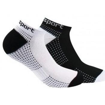 Accessoires Femme Accessoires sport Kindy Pack de 2 paires d'invisibles sport Blanc noir