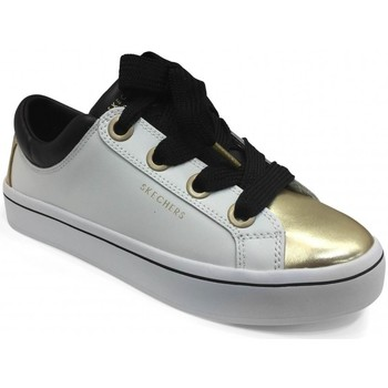 Chaussures Femme Baskets mode Skechers Sneakers Lite White Gold blanc