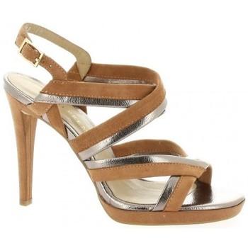 Chaussures Femme Sandales et Nu-pieds Bruno Premi Nu pieds cuir velours Cognac