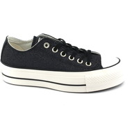 Chaussures Femme Baskets basses Converse 561040C femmes noires baskets basses lacets chaussures plate-fo Nero