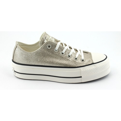 Converse 561041C or or blanc baskets basses plate-forme chaussures lacet Oro - Chaussures Baskets basses Femme